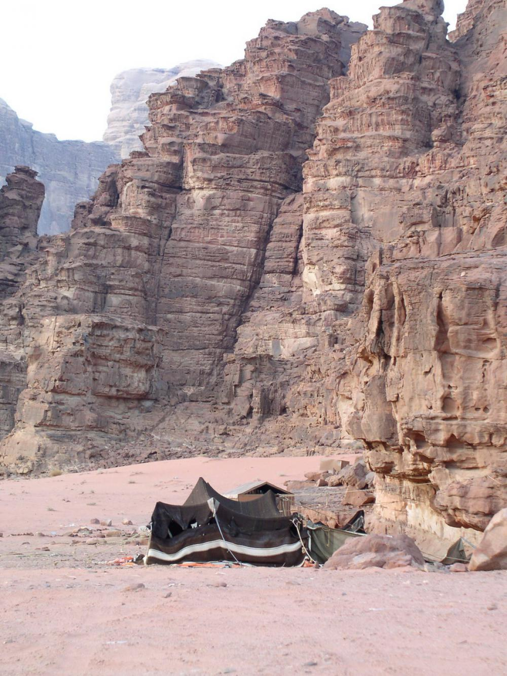 Beduin sátor a Wadi Rumban