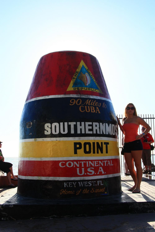 A kontinentális USA legdélebbi pontja, Key West