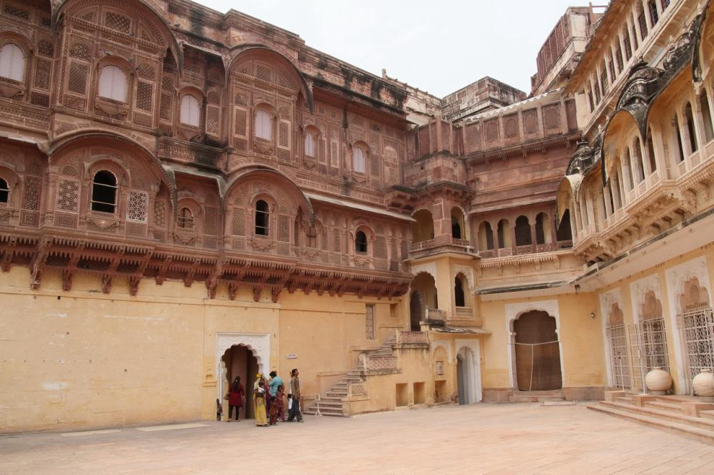 A palota belső udvara Jodhpurban