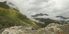 Jeg alól előbukkanó felszín (Ötz-völgyi-Alpok)