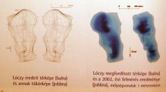 Bukura-tó Lóczy Lajos fordítottan kiadott térképén (Retyezát)