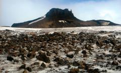 Moréna a jégen (Antarktisz)