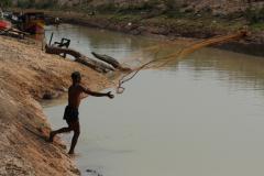 Halász a Tonle Szap partján