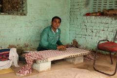 Bishnoi falvakban nyomtatás az anyagra