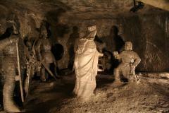 Sószobrok a wieliczkai sóbányában