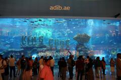 Dubaiban egy bevásárlóközpont belseje