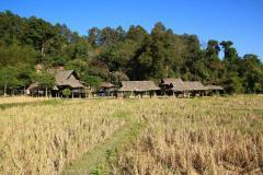 Baan Tong Luangnál hagyományos település