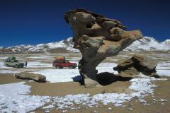 Szélmarás andeziten (Bolívia)