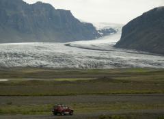 Gleccser, outlet gleccser (Vatnajökull, Izland)