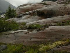 Jégkarcolta sziklafelszín (Ötz-völgyi-Alpok, Ausztria)