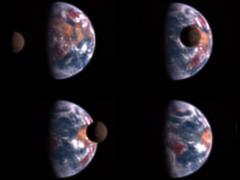 Föld és Hold 50 millió km-ről