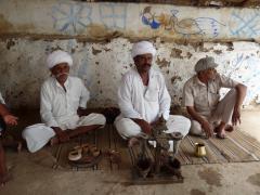 Bishnoi falvakban ópium készítők
