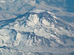Kúpgleccser vulkánon (Száraz-Andok, Bolívia)