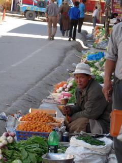 Imamalmot tekerő árus Lehben
