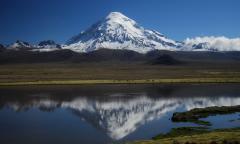 Kúpgleccser vulkánon (Sajama, Száraz-Andok, Bolívia)