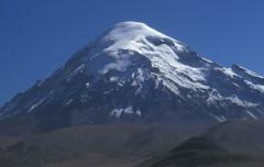 Rétegvulkán (6550 m, Andok, Bolívia)