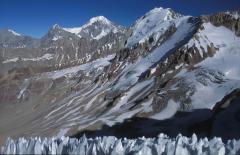 Bűnbánó jég tűk (száraz Andok)