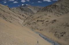 Aprózódás, törmeléklejtő (Himalája)