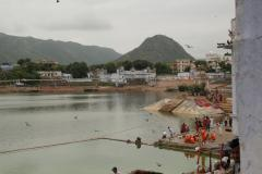 Pushkarban a hinduk által tisztelt szent tó