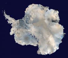 Antarktika (radarkép)