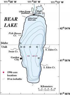 Tómélység-térkép
