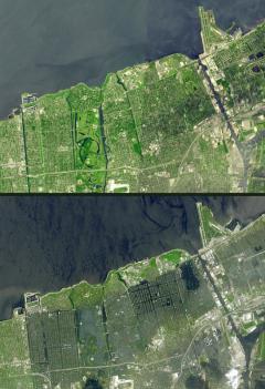 Ciklon előtt és után