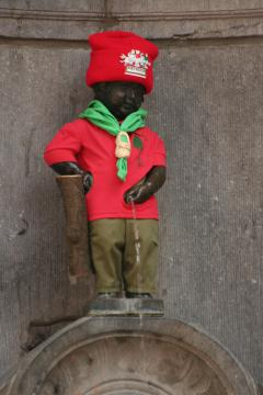 A felöltöztetett Manneken Pis, Brüsszel