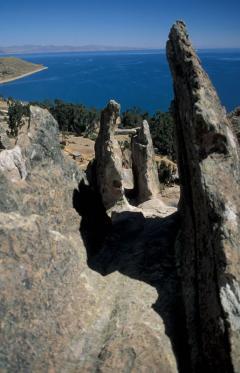 Dagadókúp csillagászati műszerré alakítva (Titicaca-tó, Bolívia)
